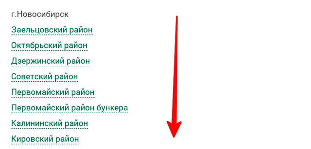 Районы Новосибирска